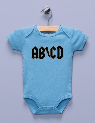 """AB/CD"" Blue Infant Bodysuit"