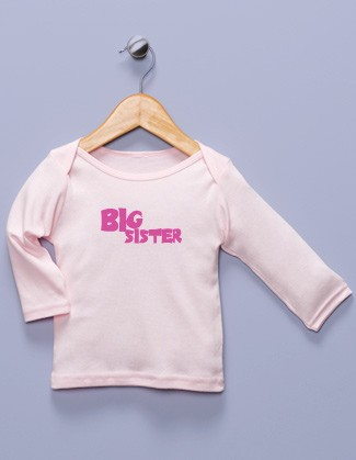"""Big Sister"" Pink Long Sleeve Shirt"