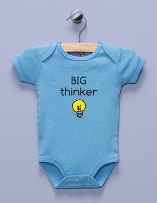 """Big Thinker"" Blue Infant Bodysuit"