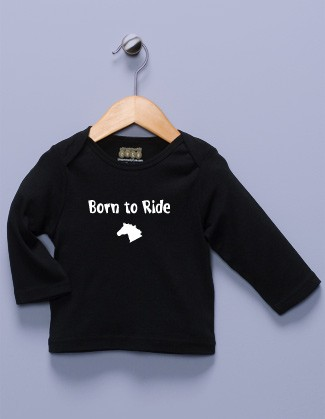 """Born to Ride"" Black Long Sleeve Shirt"