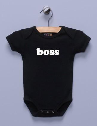 """""""Boss"""" Black Infant Bodysuit"""