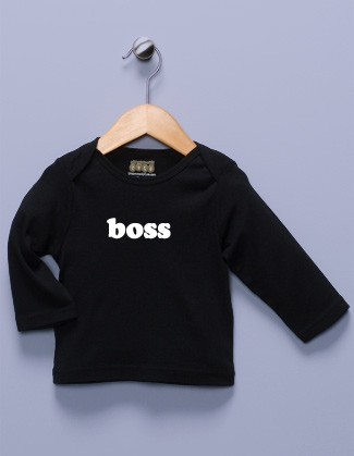 """Boss"" Black Long Sleeve Shirt"