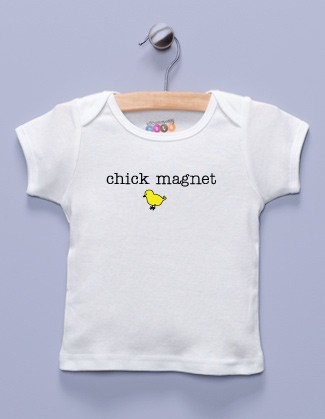 """Chick Magnet"" White Shirt"