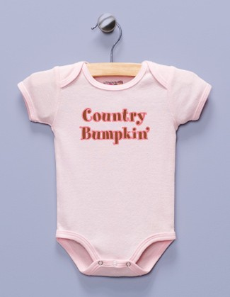 """Country Bumpkin'"" Pink Infant Bodysuit"