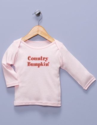 """Country Bumpkin'"" Pink Long Sleeve Shirt"
