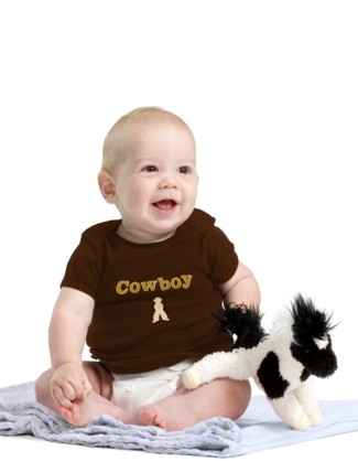 Cowboy - Brown Baby Shirt