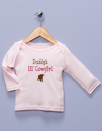 &quot;Daddy's lil' Cowgirl&quot; Pink Long Sleeve Shirt