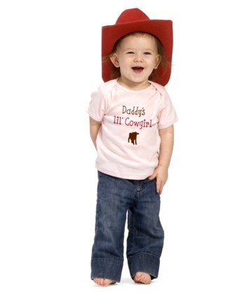 """Daddy's lil' Cowgirl Tee"