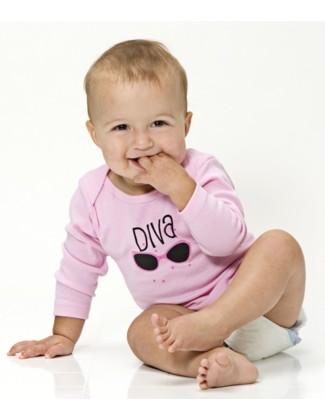 Diva - Long Sleeve Pink Shirt
