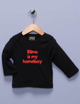 """Elmo is my Homeboy"" Black Long Sleeve Shirt"