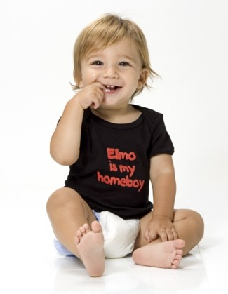 Elmo is My Homeboy - Cute Baby Shirt