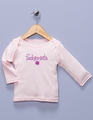 """Fashionista"" Pink Long Sleeve Shirt"