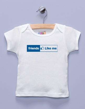 """Friends Like Me"" White Shirt / T-Shirt"