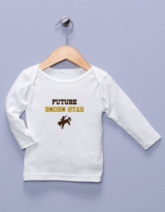 """Future Rodeo Star"" White Long Sleeve Shirt"