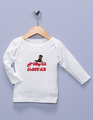 &quot;Grampa's Sidekick&quot; White Long Sleeve Shirt