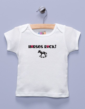 """Horses Rock!"" White Shirt / T-Shirt"