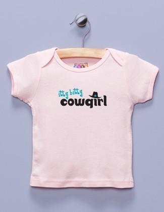 """Itty Bitty Cowgirl"" Pink Shirt / T-Shirt"
