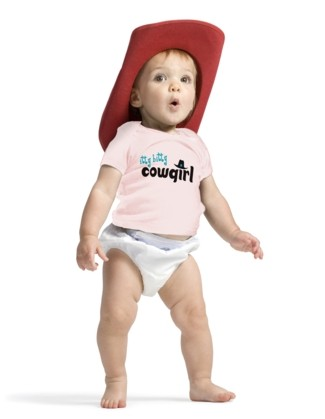 itty bitty Cowgirl - Short Sleeve Shirt