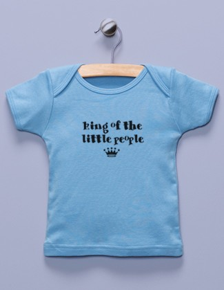 """King of the Little People"" Blue Shirt"
