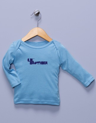 """Lil' Brother"" Blue Long Sleeve Shirt"