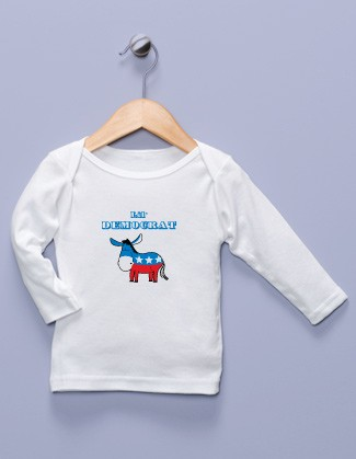"""Lil' Democrat"" White Long Sleeve Shirt"