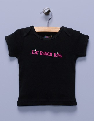 &quot;Lil' Ranch Diva&quot; Black Shirt / T-Shirt