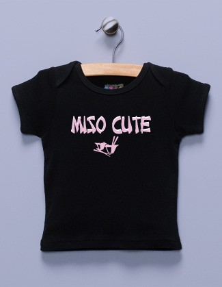 &quot;Miso Cute&quot; Black Shirt / T-Shirt