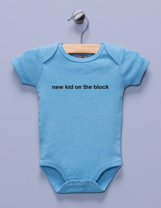 """New Kid on the Block"" Blue Infant Bodysuit"