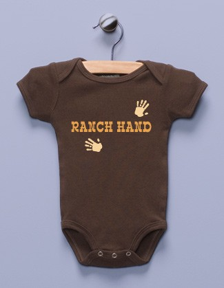 """Ranch Hand"" Brown Infant Bodysuit"