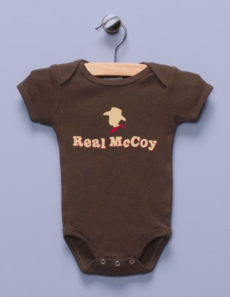 """Real McCoy"" Brown Infant Bodysuit"