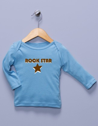 """Rock Star"" Blue Long Sleeve Shirt"