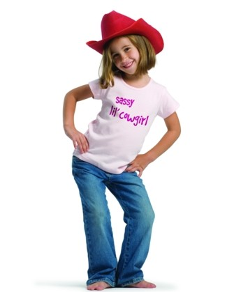 Sassy lil' Cowgirl - Short Sleeve Pink Shirt