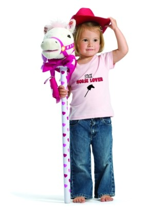 """""""Stick Horse Lover"""" Pink Tee"""