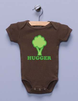 """Tree Hugger"" Brown Infant Bodysuit"
