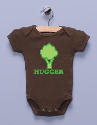 """""""Tree Hugger"""" Brown Infant Bodysuit"""