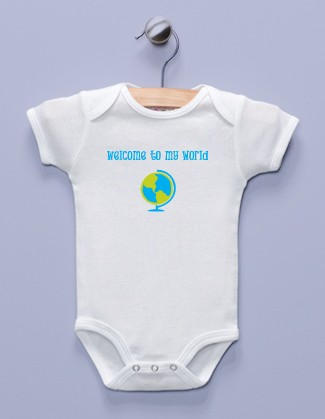 """Welcome to My World"" White Infant Bodysuit"