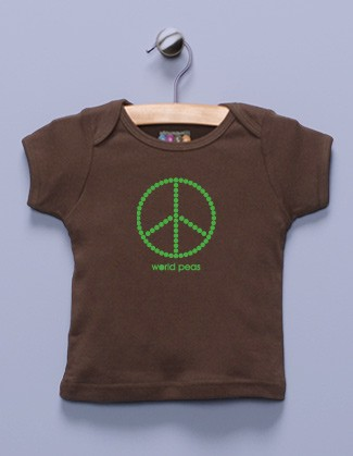 &quot;World Peas&quot; Brown Shirt / T-Shirt