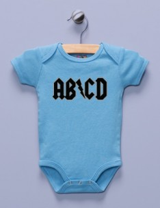 &quot;AB/CD&quot; Blue Infant Bodysuit