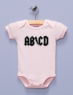 """AB/CD"" Pink Infant Bodysuit"