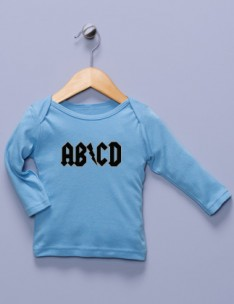 """AB/CD"" Blue Long Sleeve Shirt"