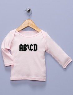 &quot;AB/CD&quot; Pink Long Sleeve Shirt