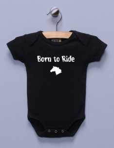 """Born to Ride"" Black Infant Bodysuit"