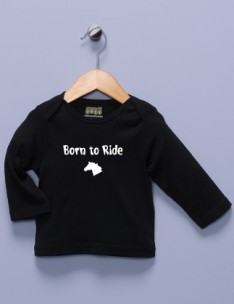 &quot;Born to Ride&quot; Black Long Sleeve Shirt