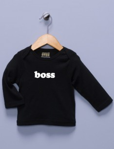 """Boss"" Black Long Sleeve Shirt"