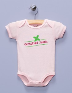 """Certified Fresh"" Pink Infant Bodysuit"