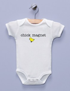 """Chick Magnet"" White Infant Bodysuit"