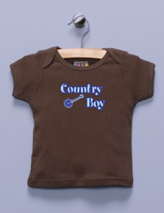 """Country Boy"" Brown Shirt"