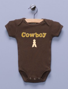 &quot;Cowboy&quot; Brown Infant Bodysuit