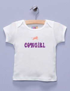 """Cowgirl"" White Shirt / T-Shirt"