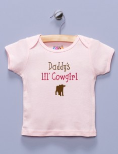 """Daddy's lil' Cowgirl"" Pink Shirt / T-Shirt"